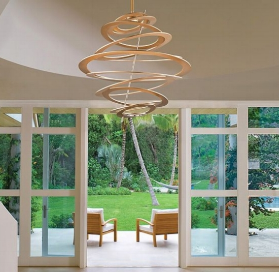 { Spellbound LED light fixture  by Corbett Lighting, dimmable}