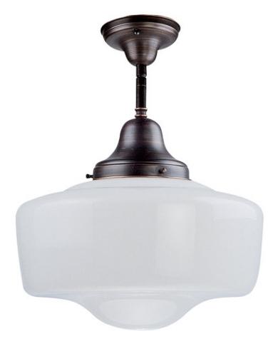{Semi-flush mount light from Schoolhouse Collection, DVI.}