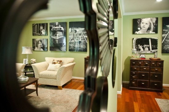 {Awesome shot of the wall via a mirror display in the room. Photo by  Mary Gardella .}