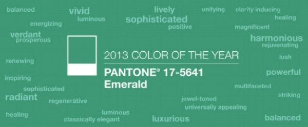 {See  my past blog post on emerald green , I'm so ahead of the curve!}