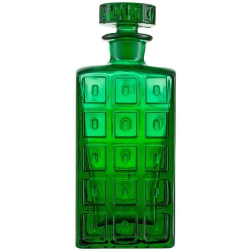 {Handmade Scandanavian Impressed Pattern Glass Emerald Green Whiskey Decanter. From:  1stDibs .}