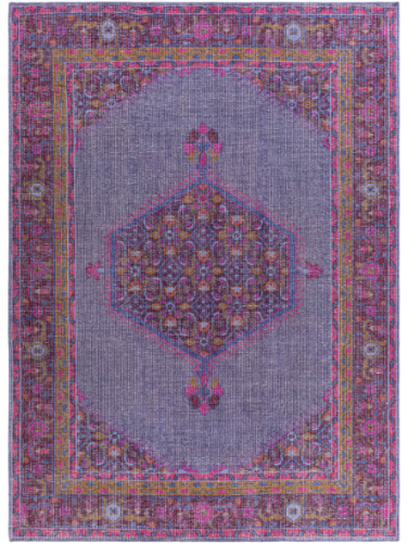 {Zahra Hand-Knotted 100& Plum Area Rug. From:  Surya .}
