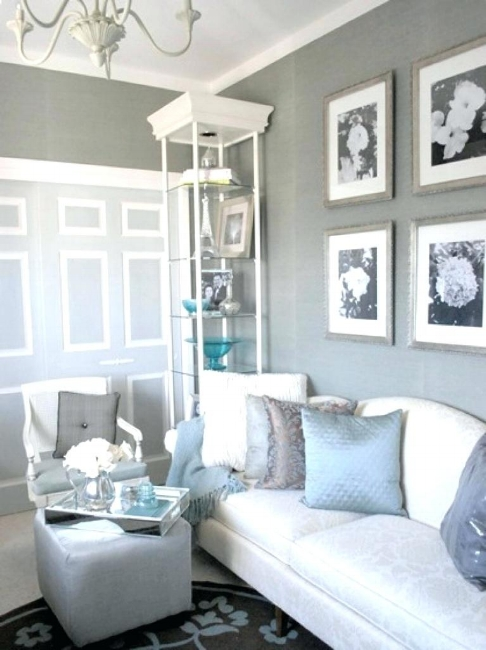 {Soothing, soft gray walls are fresh and calming. From:  HGTV .}