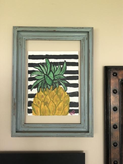 {A piece of my daughter, Megan's, artwork!}