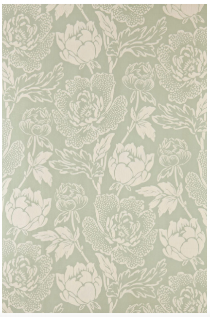 {This floral wallpaper would feel right at home in Downton Abbey or maybe in your powder room? From:  Farrow & Ball .}