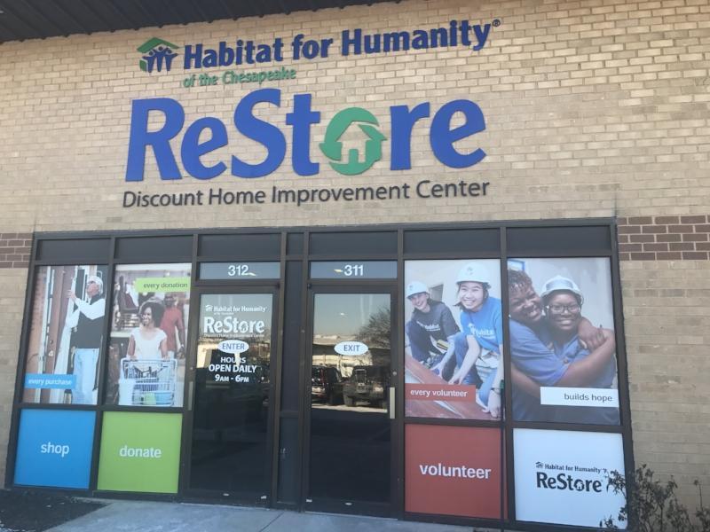{Habitat's  Halethorpe ReStore , one of my shopping destinations for the HabiTown Judges' lounge.}