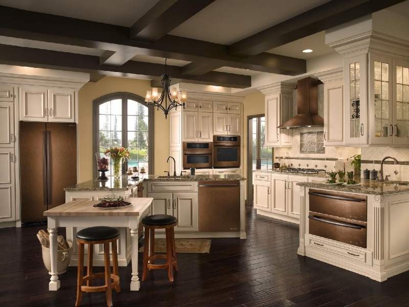{Bronze appliances could warm up your kitchen. From:  Jenn-Air .)