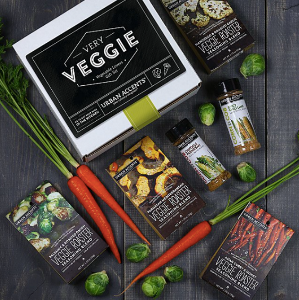 {This collection of seven bold seasoning medleys offers enticing accents for a variety of vegetable preparations. From:  Uncommon Goods .}