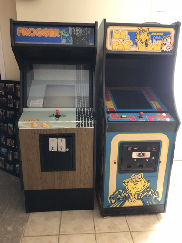 {There is fun to be had around every corner in Jean's home, such as these throwback arcade games.}