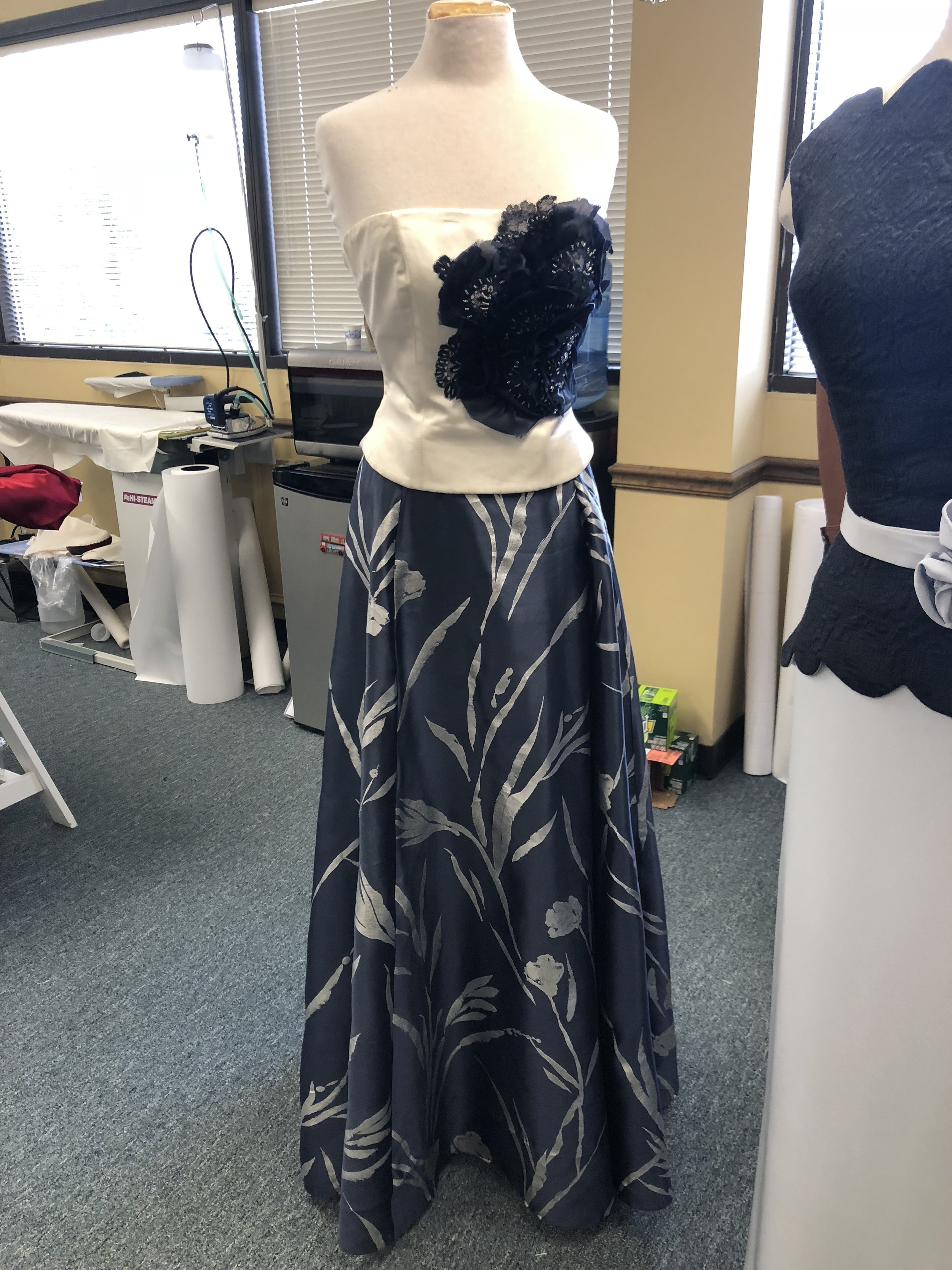 {A stunning evening gown in the works for a client of Ella Pritsker Couture.}