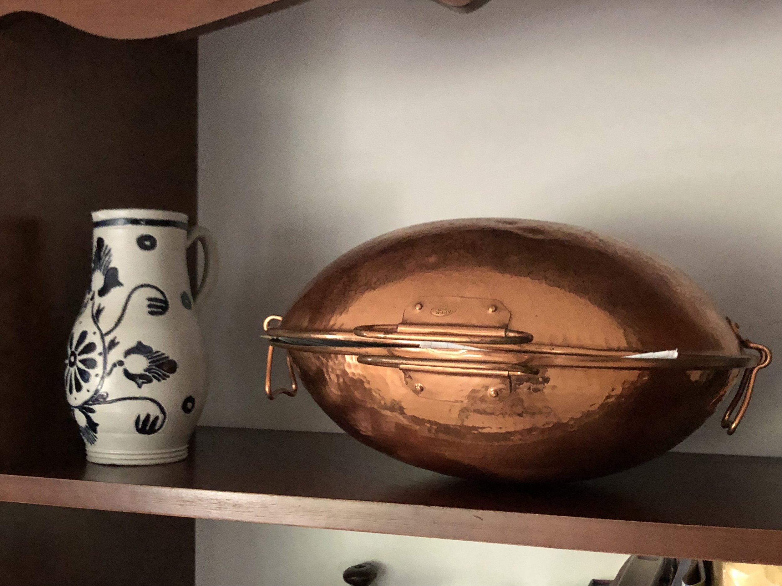 "{""I usually like to collect one interesting thing or something I can't get somewhere else,"" Debbie said speaking of her cookware find during a trip to Portugal.}"