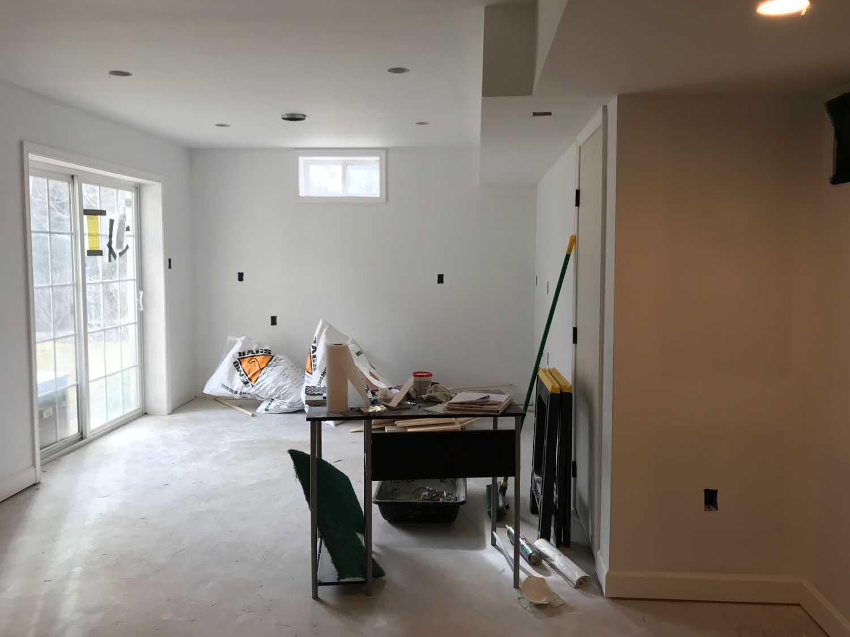 Drywall Eldersburg Basement Wet Bar Remodel Progress–Designer Bestie April Force Pardoe Interiors.jpg