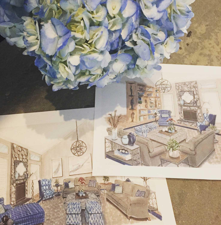 Laurel Maryland Great Room Two Story Family Room Design Details Rendering – Designer Bestie April Force Pardoe Interiors.jpg