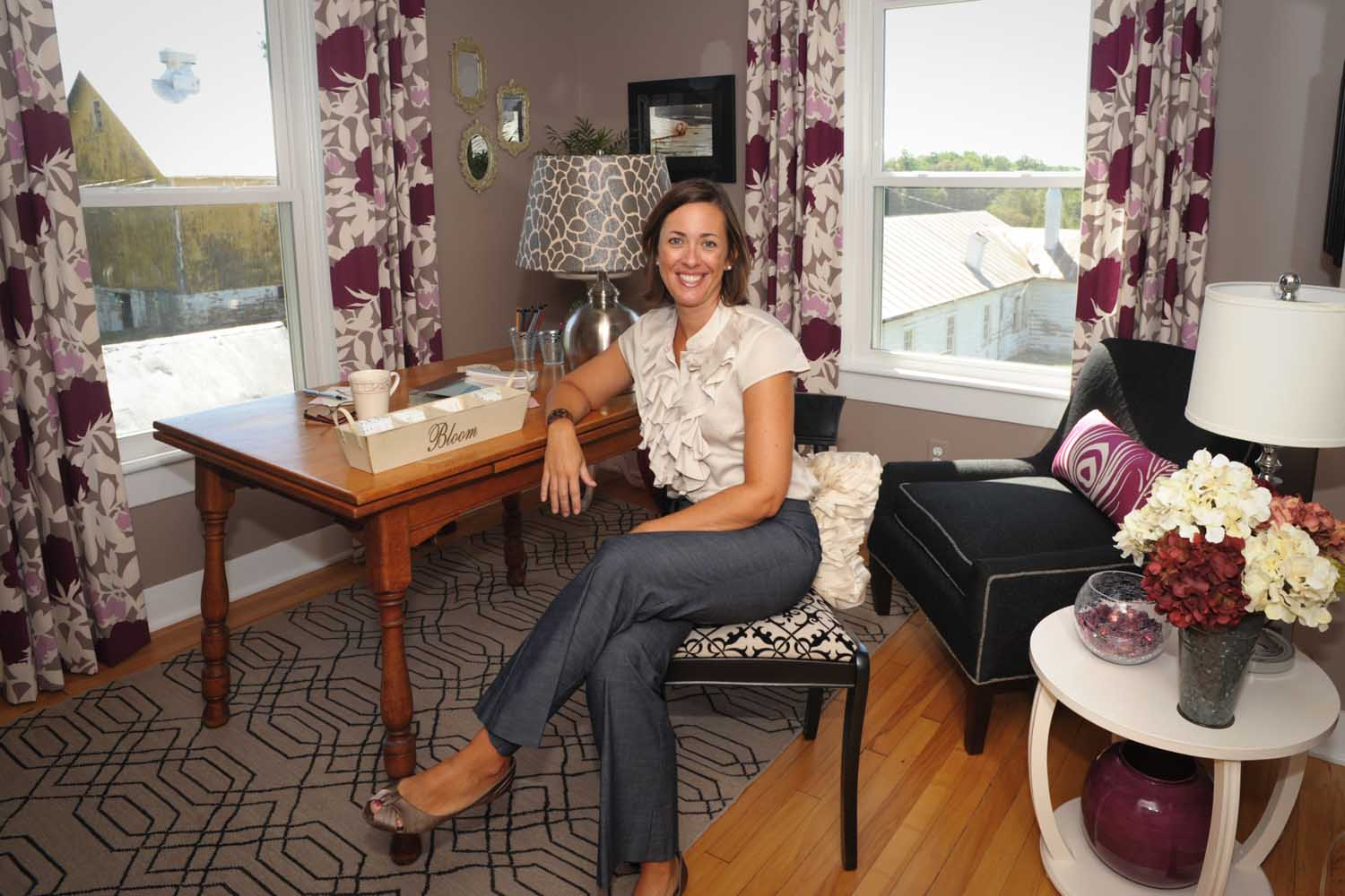 Howard County Ellicott City Decorator Show House Stylish Home Office Design After – Designer Bestie April Force Pardoe Interiors.jpg