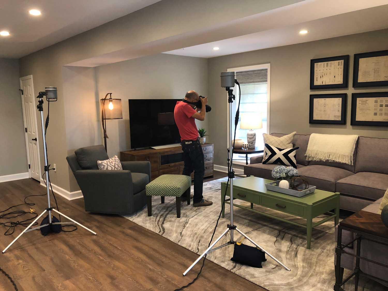 BTS Remodeled Eldersburg Basement Family Room Photoshoot – Designer Bestie April Force Pardoe Interiors.jpg
