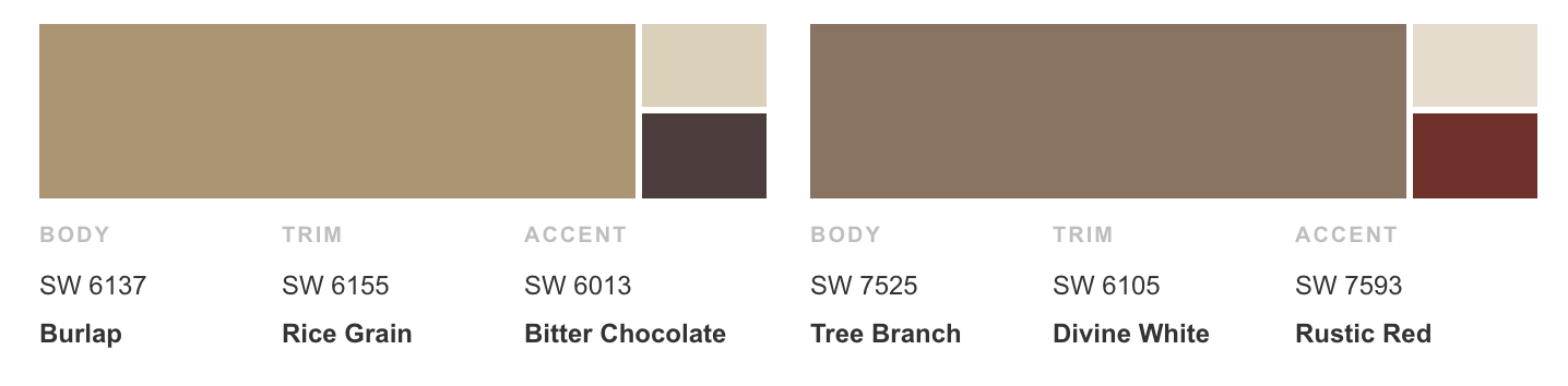 Sherwin Williams Exterior Color Palette