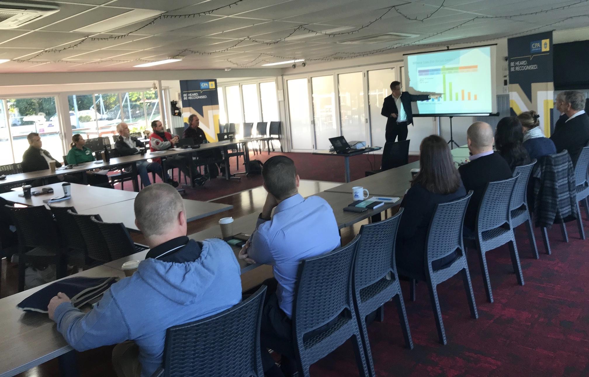 Colin Graham, Causeway Innovation, presenting to CPA Sunshine Coast