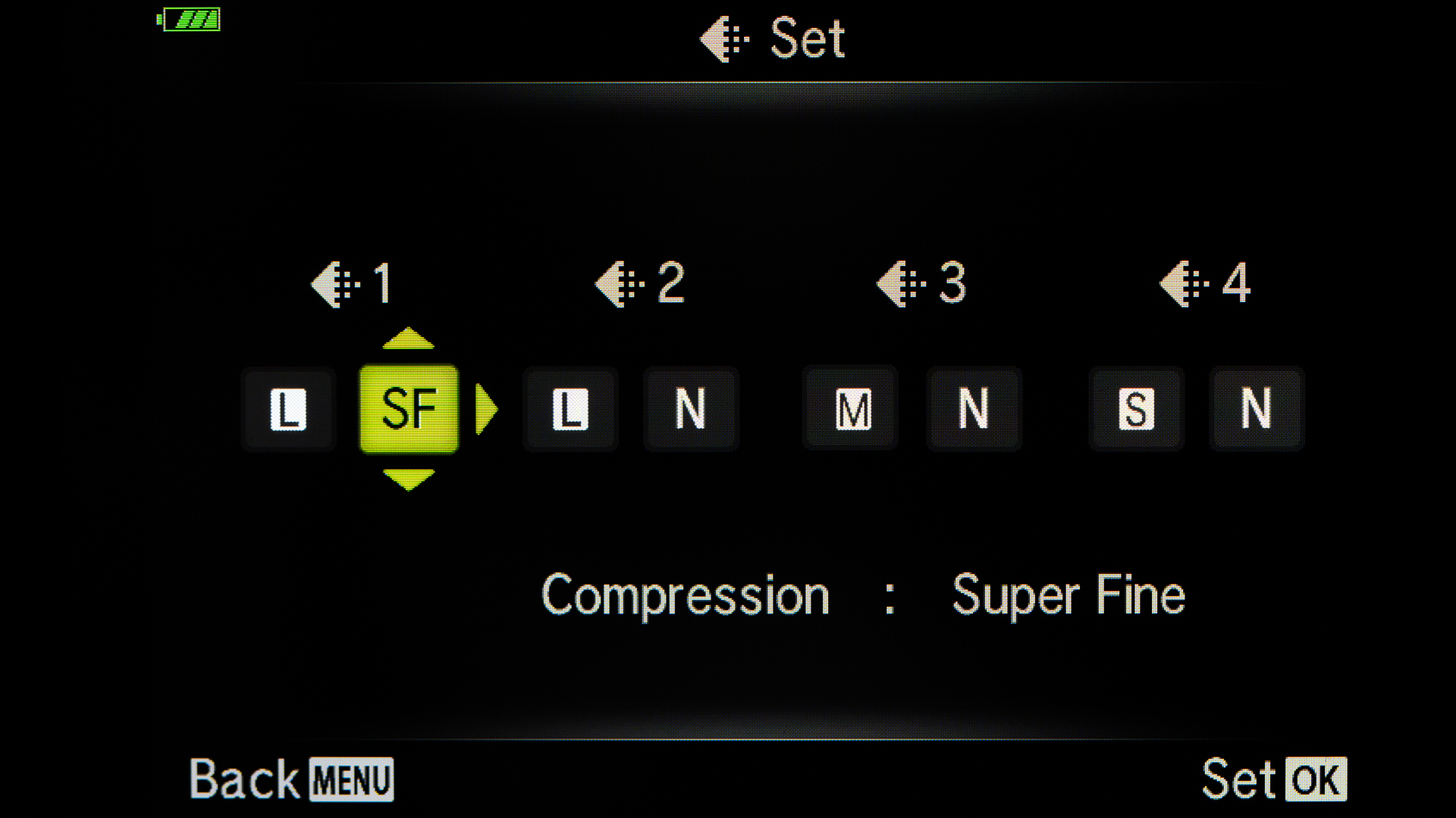 Choose Super Fine as your compression.