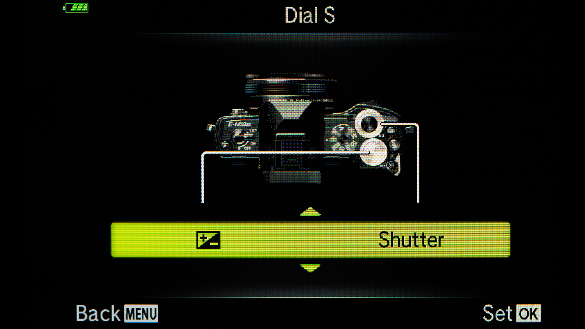 I set up the Dials so that the Exposure Compensation is on the back wheel. The front wheel is for Aperture or Shutter Speed depending on what Mode you are using.