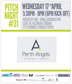 Perth Angels Pitch Night #31 - 77 St Georges Terrace, Perth WA