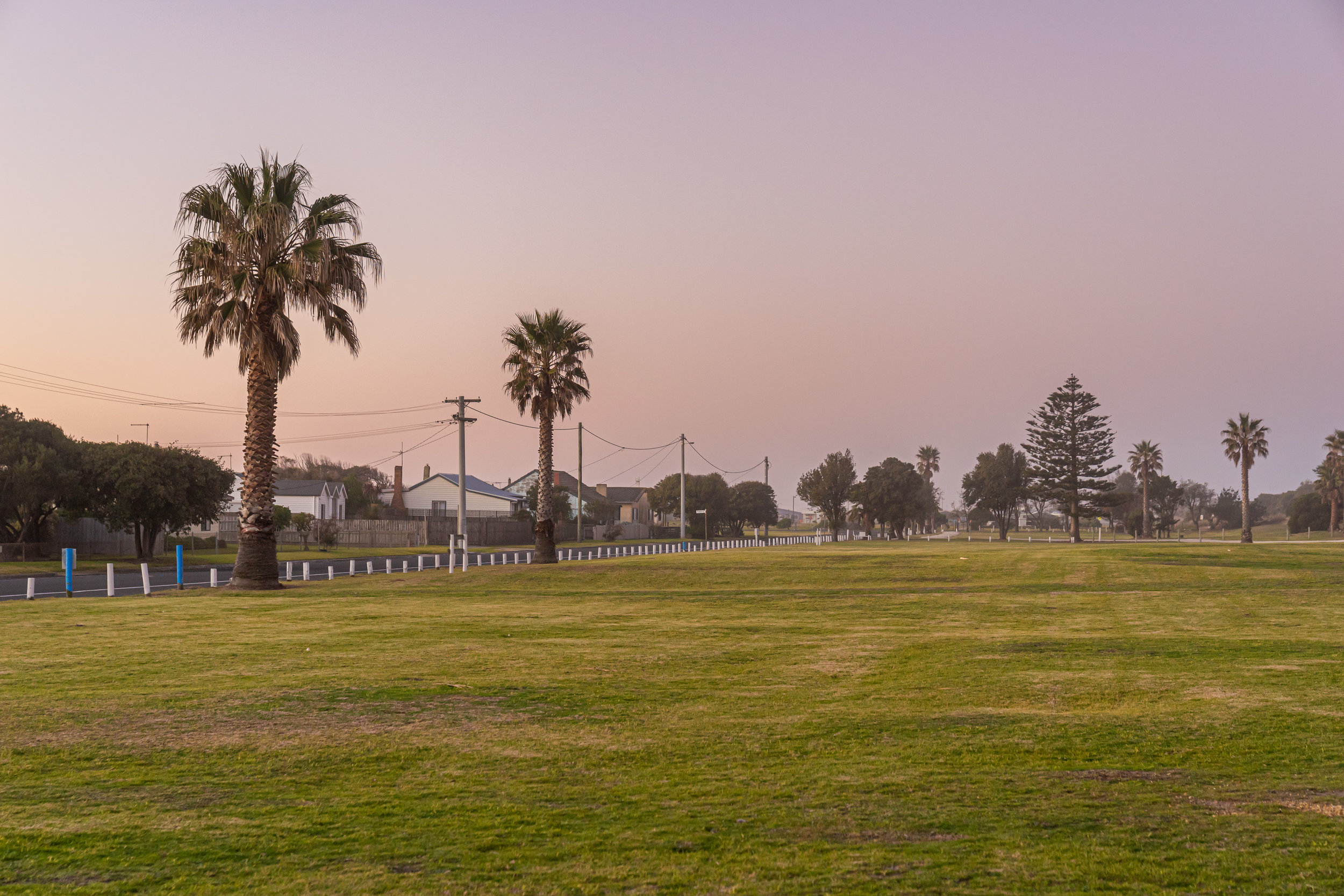 Site of the old caravan park, now moved back from the foreshore