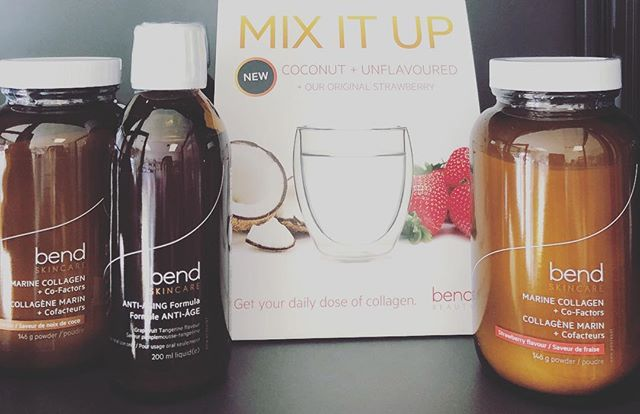 @bendbeauty Mix it Up . . • Anti-aging formula (liquid) Grapefruit Tangerine Flavor •   Defend Hydrate Firm Smooth Protect