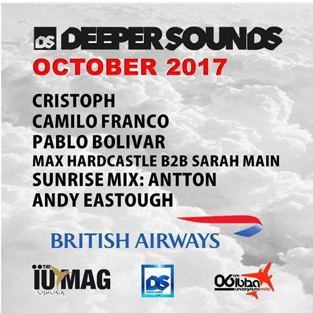 If you're travelling on @british_airways, check out @djsarahmain & myself on the latest @deepersoundsuk podcast with @cristophmusic @iamcamilofranco @pablo_bolivar @dj_antton @djandyeastough #Britishairways #housemusic #disco #funk #techhouse #deephouse #mixoftheday #instaoftheday #ibiza #dubaidj #ibizadj #femaledj #female #dubai #djlife #djs #wonderlust #iumagibiza #ushauia