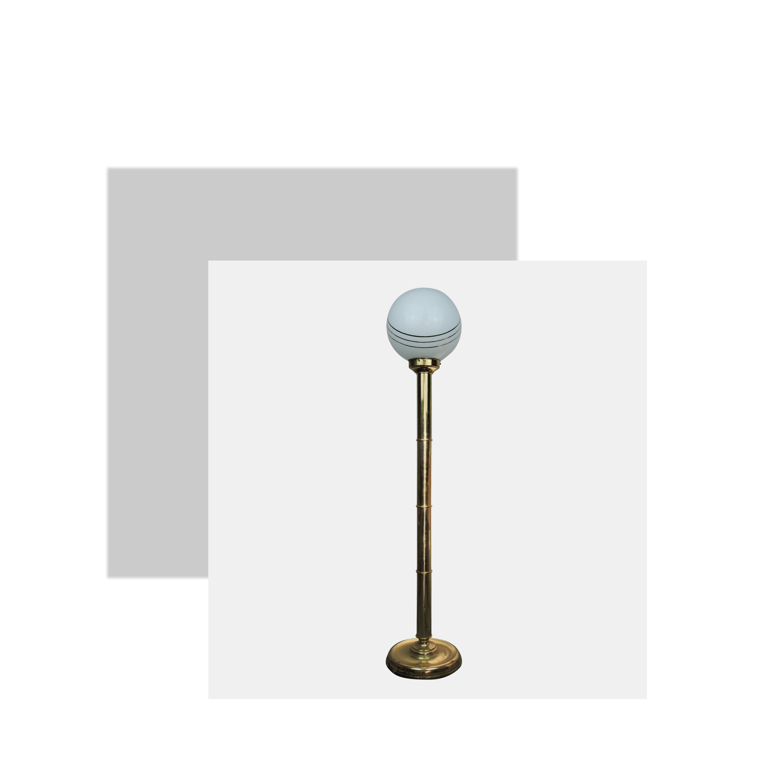 I mean wow, how impressive is this floor lamp? The tall thick brass stem and the white globe with matching gold stripes is just beautiful. I would put this in the living room or even a bedroom. If you had another brass coloured item such as a vase or mirror, you could give your room a refresh with no effort at all.