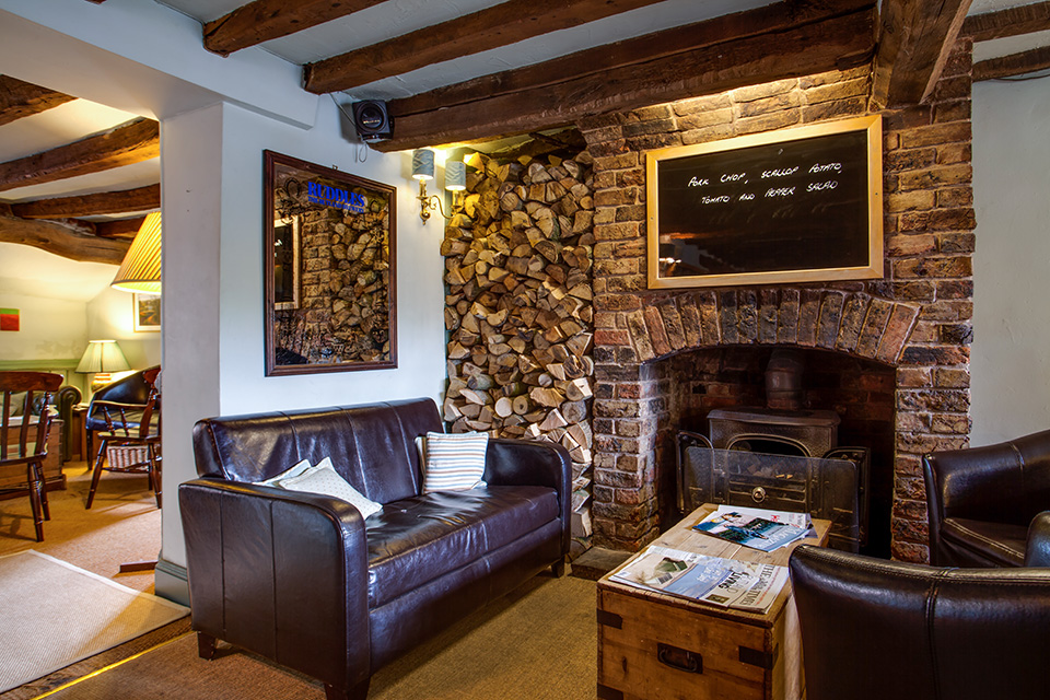 Cosy by the inglenook - - The Blue Ball