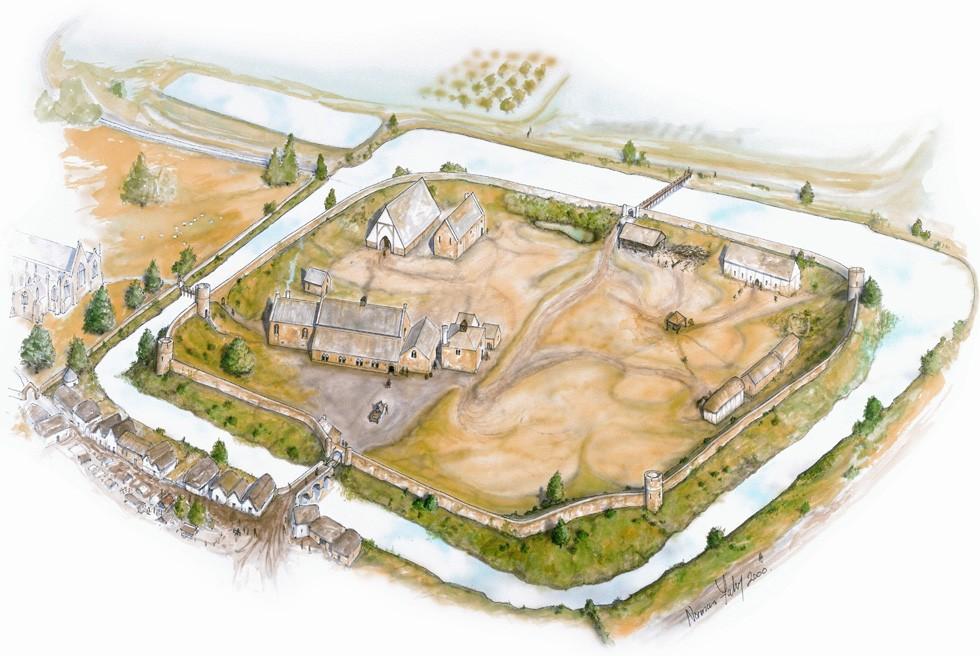 An artist's impression of Oakham Castle - - Rutland County Council
