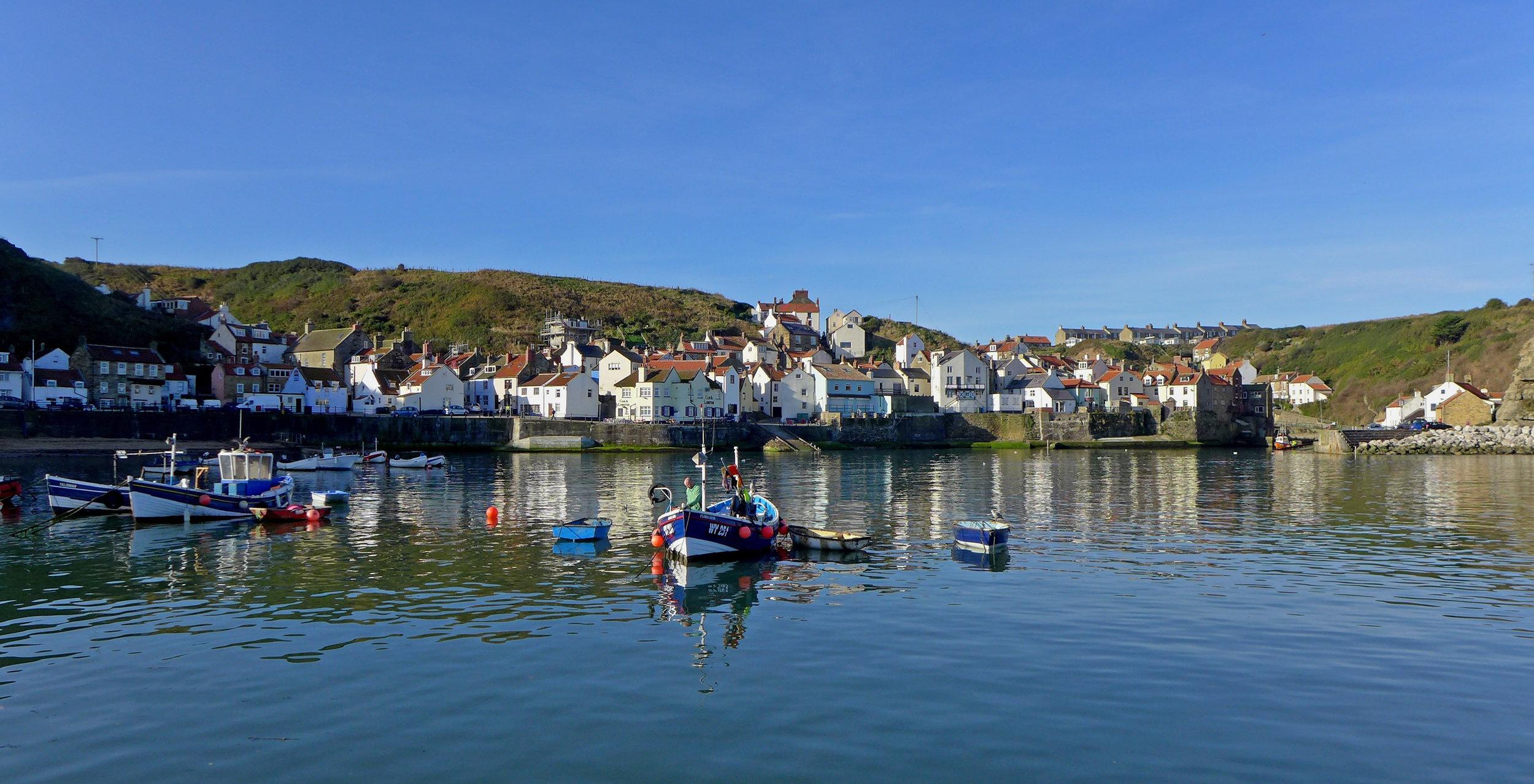 Staithes Harbour - - Brian Nicholson