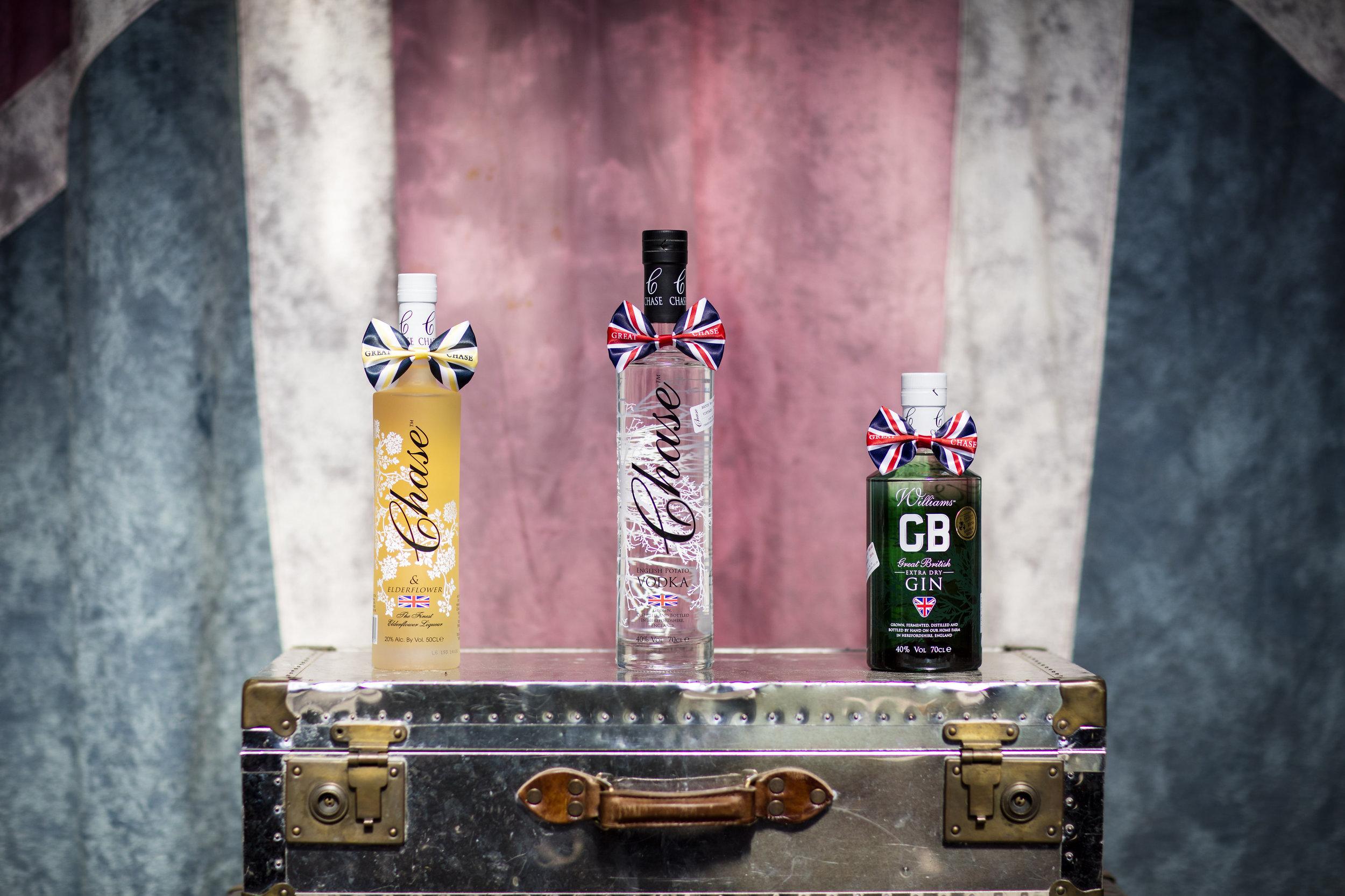 Chase's range of spirits - - Chase Distillery