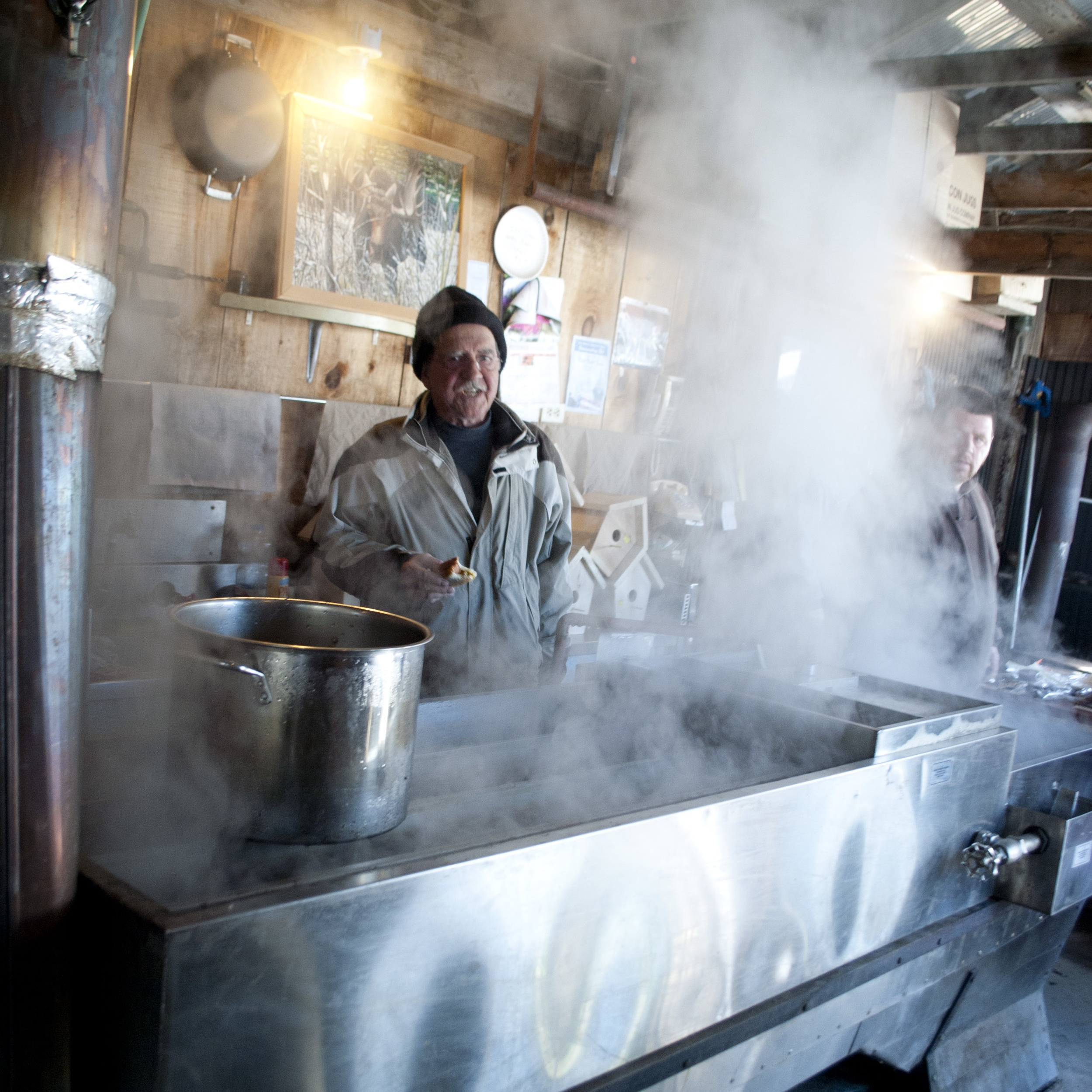 Making syrup in Limerick.
