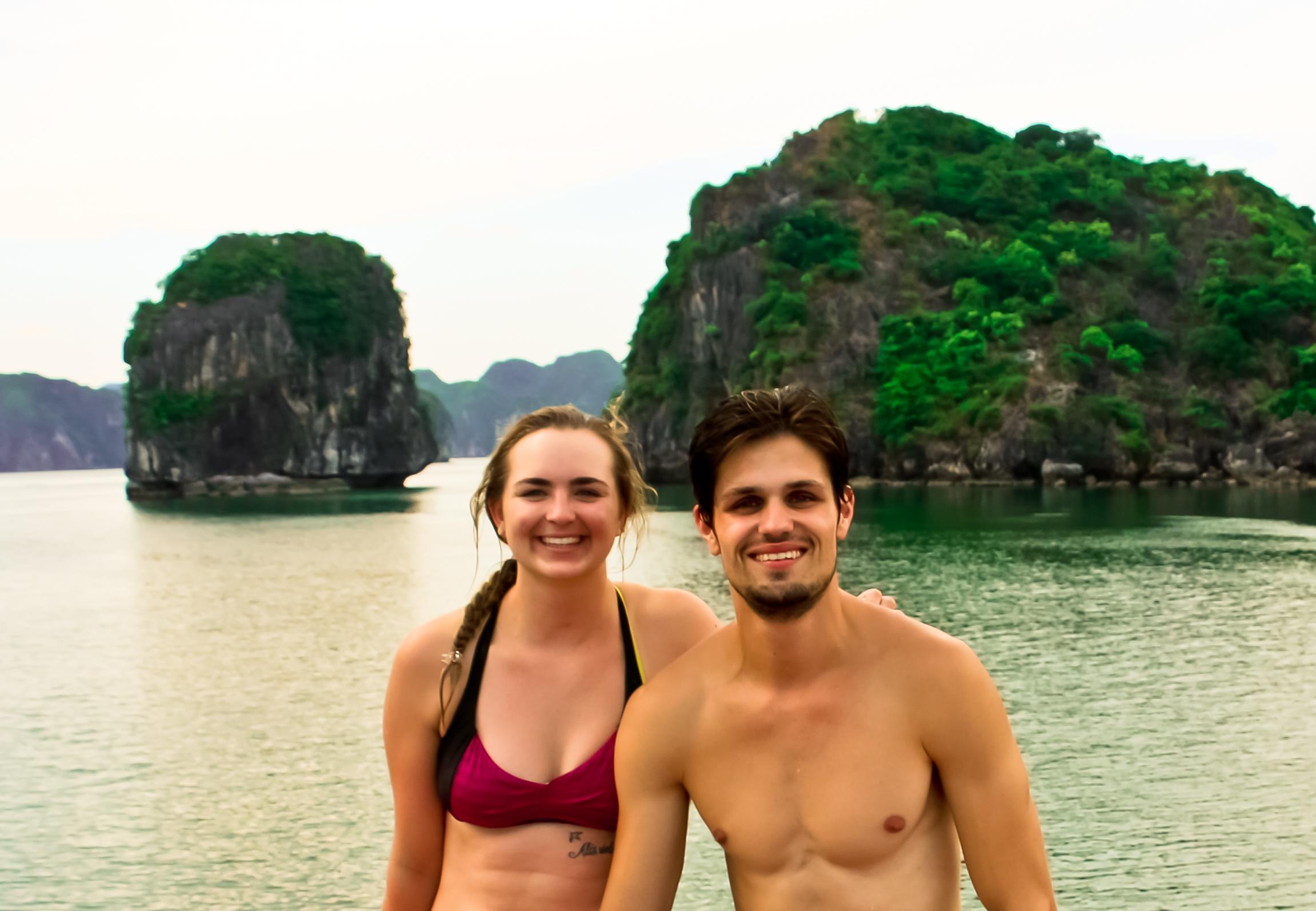 Megan and her friend, Ronald, in Vietnam.