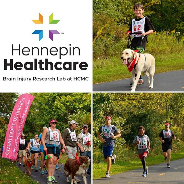 Registration is now open for the 2nd annual Charlene's 5k Dog Run! 100% of proceeds support the research of Dr. Uzma Samadani and the Brain Injury Research Lab at HCMC. Dr. Samadani is currently researching Brain Injury prevention in youth athletes. The event is in memory of beloved Charlene Barron, 9-time Ironman Triathlete and dog lover. More details and registration on our website, link in profile. @charlenesdogrun #charlenesdogrun #braininjuryawareness #childrenshealth #youthathletes #minneapolisrunning #mndogs #ironman