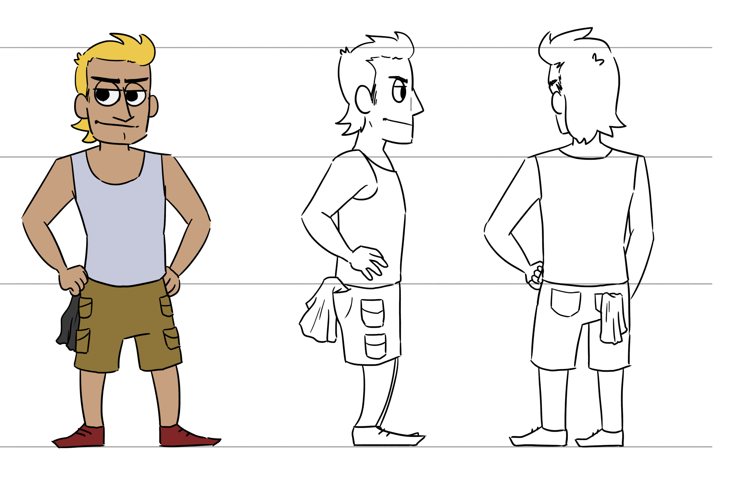 Turnaround with color (and cargo shorts)