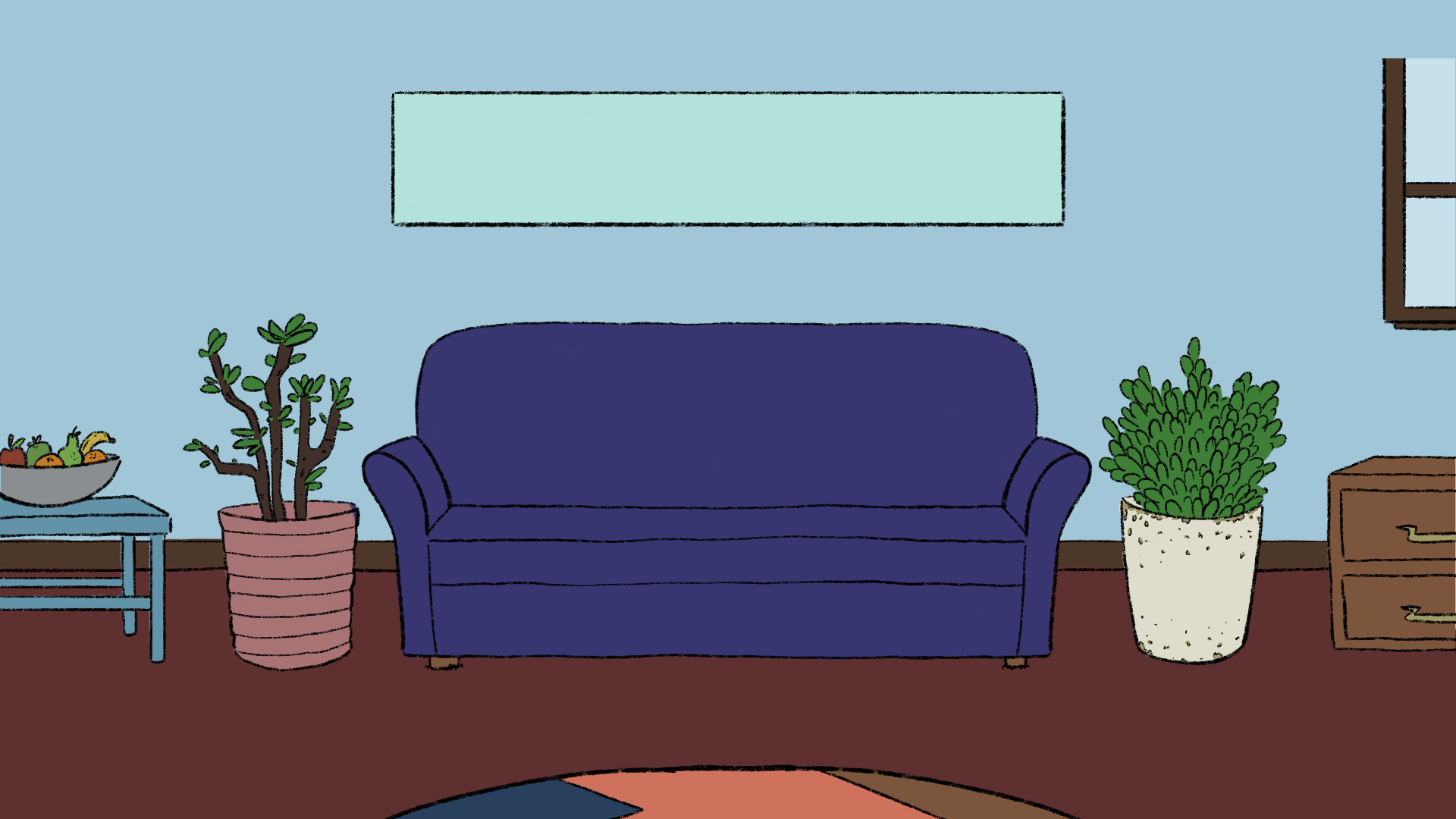 A version of the background with color.