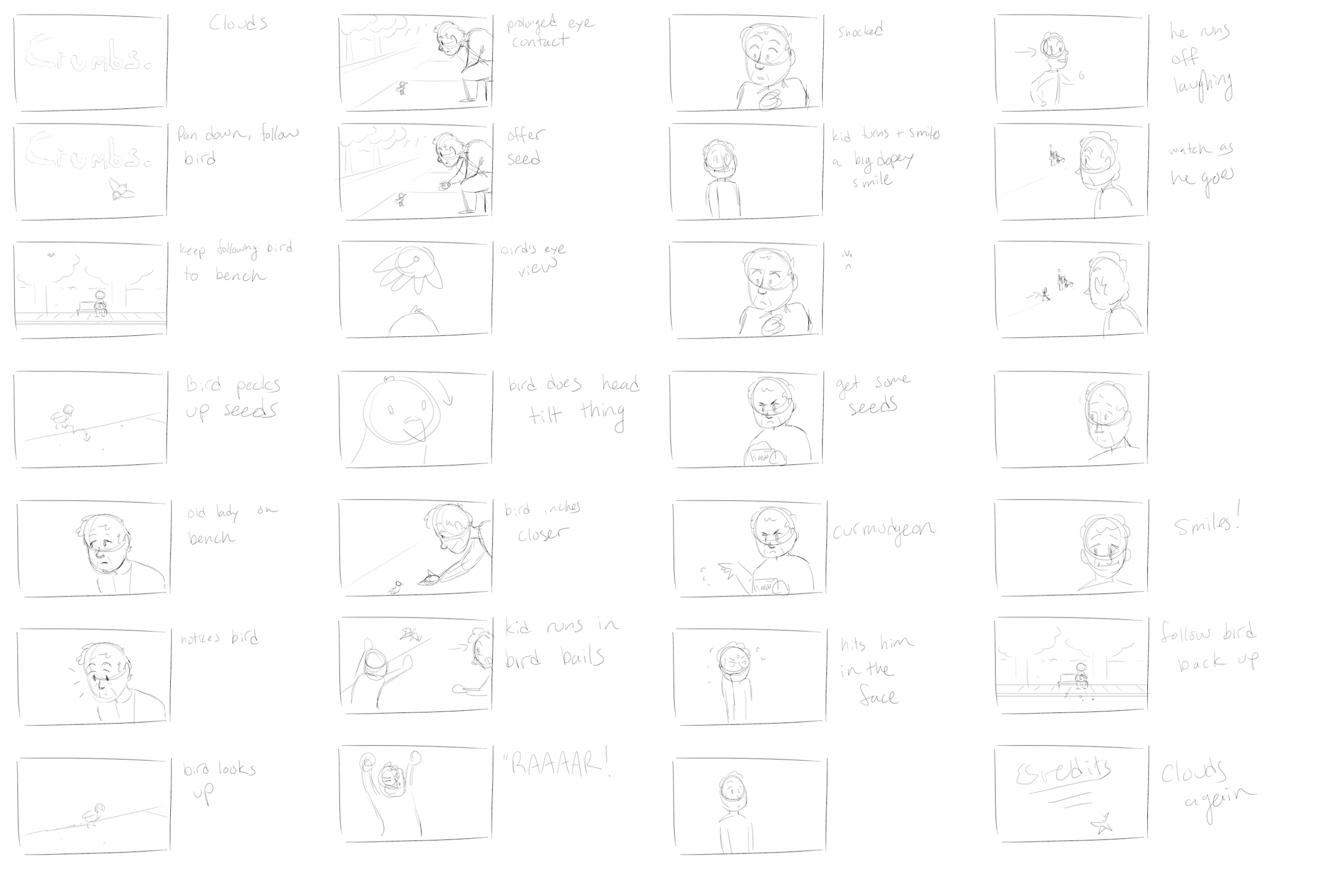 A simple storyboard.