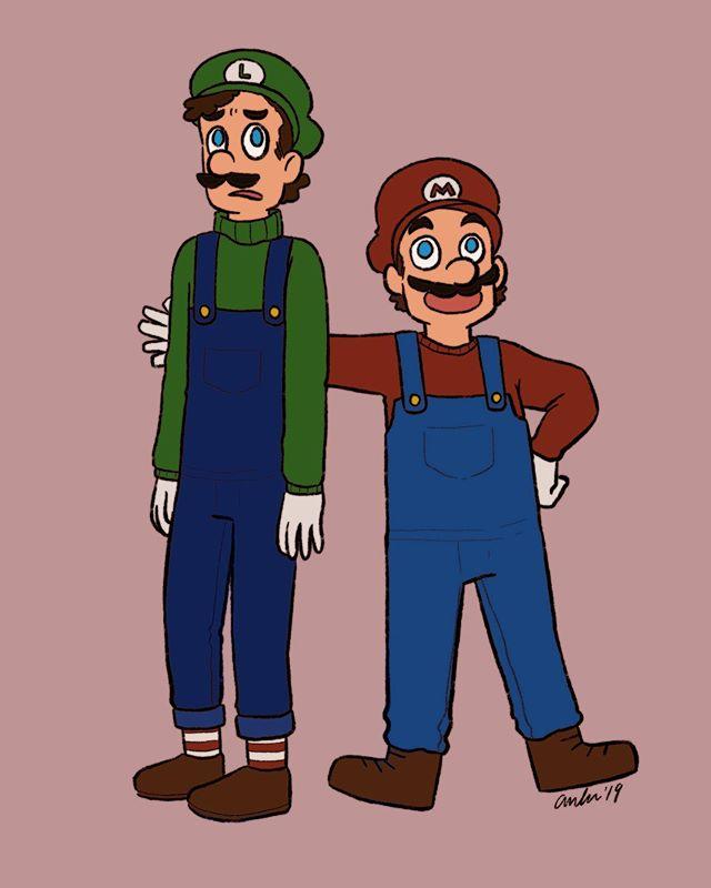Bada bap bada bap! Do tha Mario! This is half concept art for a Mario comic I swear to god I'll do someday, half the first thing I've drawn since graduation. It's good to be alive, baby!!!! . . . #illustration #mario #supermario #nintendo #nintendofanart #mariofanart #luigi #mariobros #procreate @procreate #ipadproart #artistsoninstagram