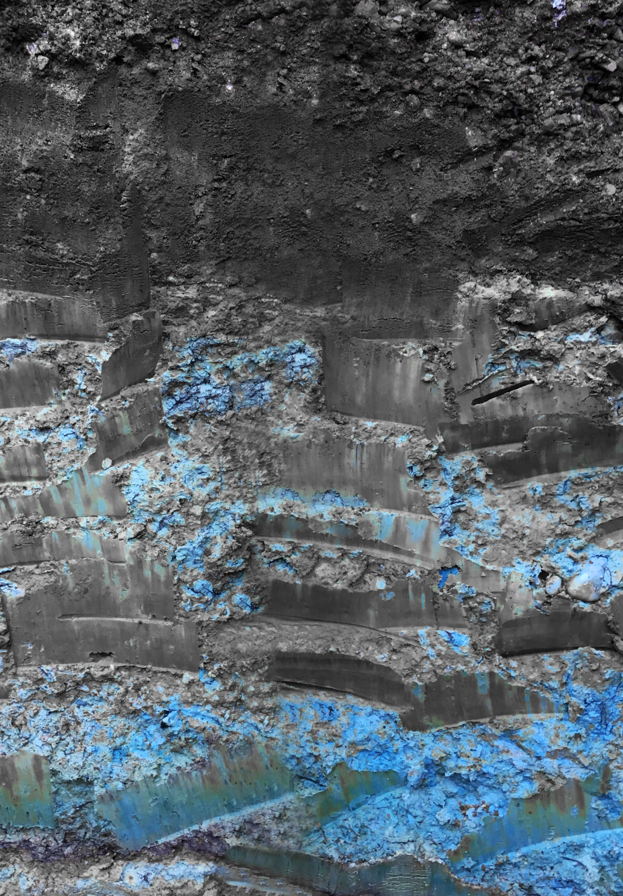 Pomerol's famous blue clay.