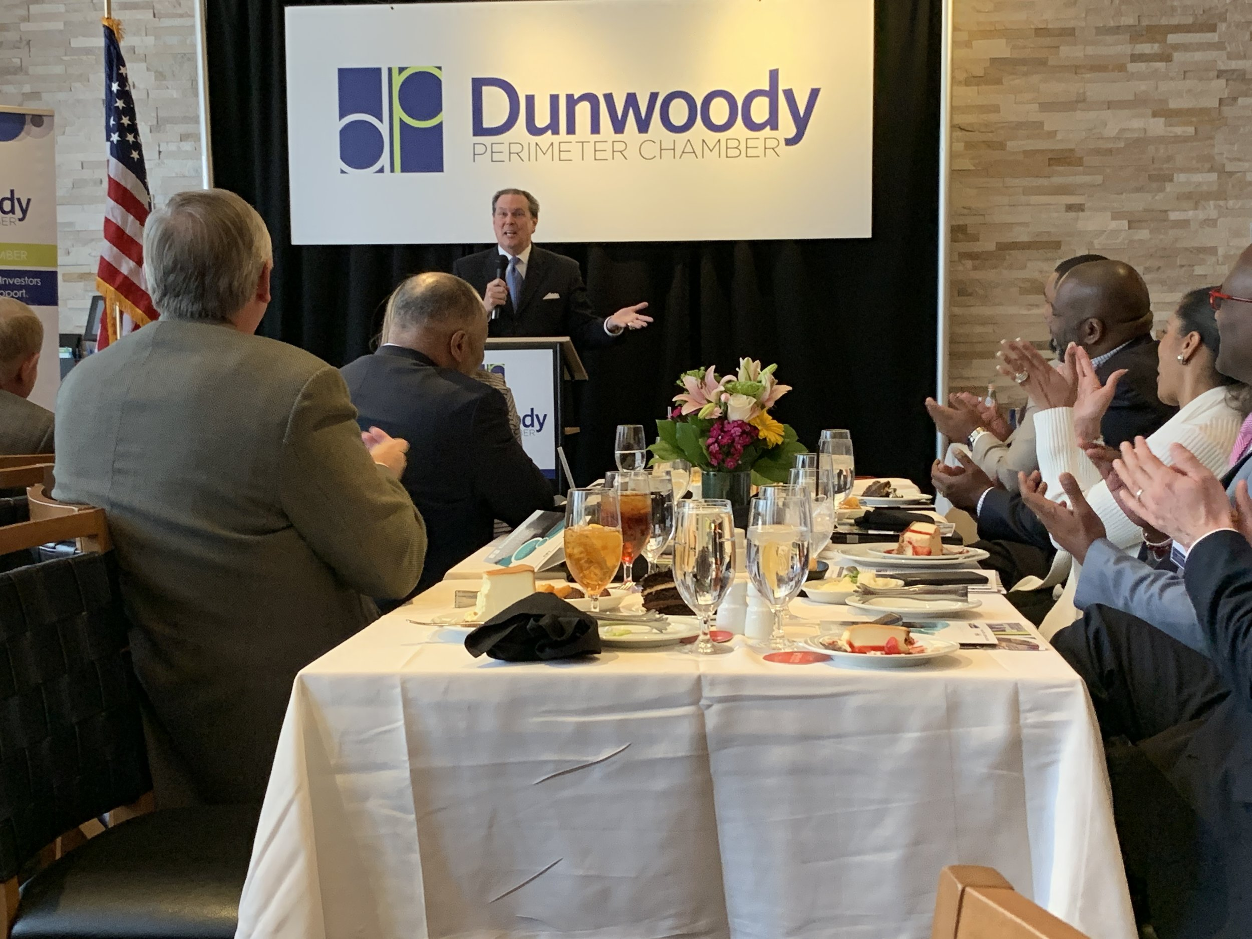 "Bob at the Dunwoody Perimeter Chamber - ""On behalf of the Dunwoody Perimeter Chamber, I would like to thank you for serving as our keynote speaker for our 2019 Annual Meeting on March 28, 2019. We greatly appreciate the time you took from your busy schedule to prepare and deliver such a dynamic and motivating keynote address!""Brittney Hardweare -Events Coordinator"