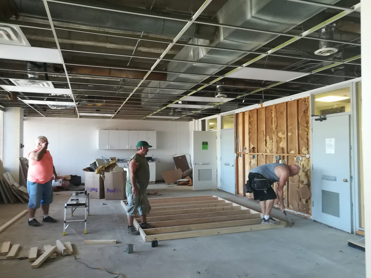 Construction of the culinary arts classroom