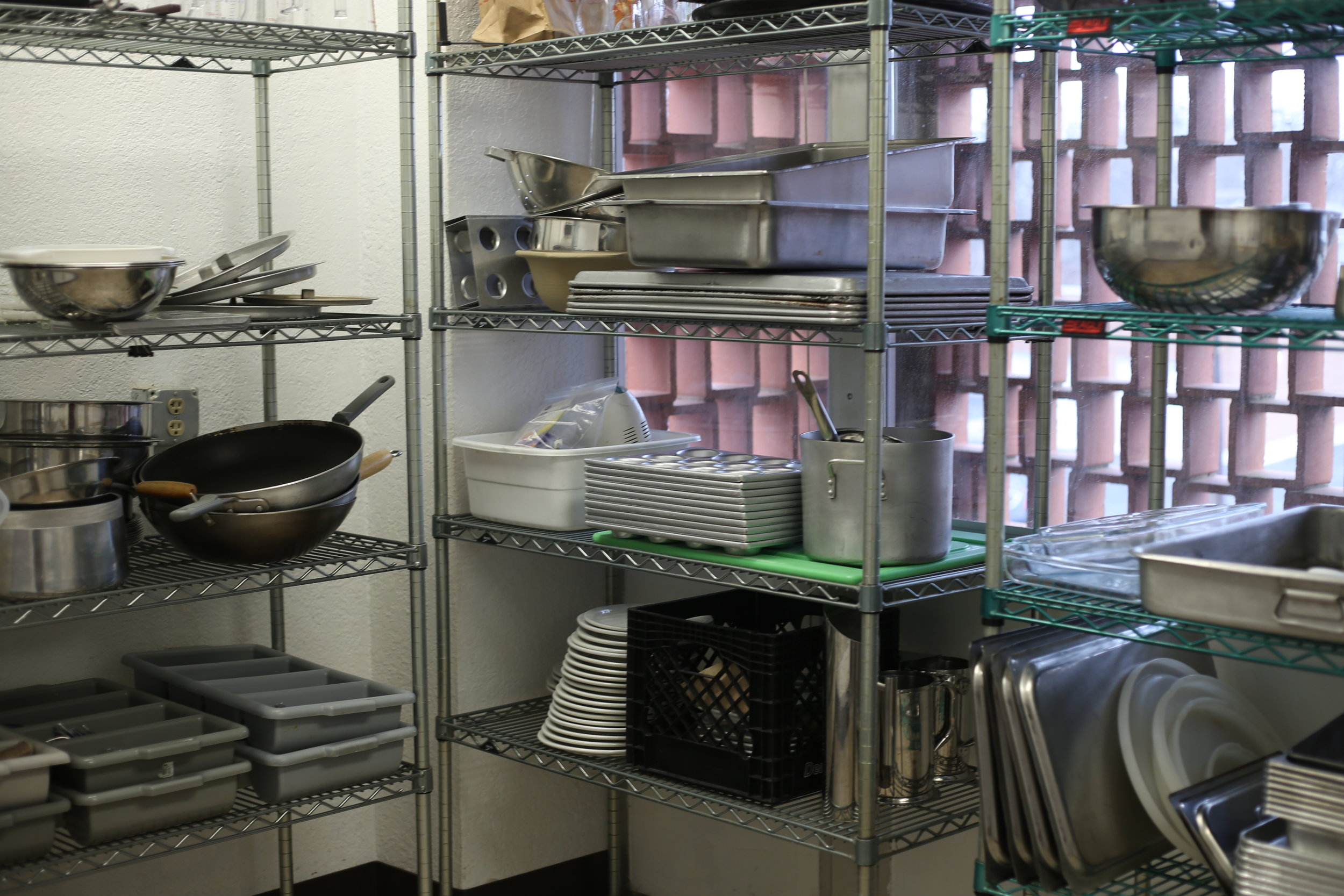 Culinary arts storage closet