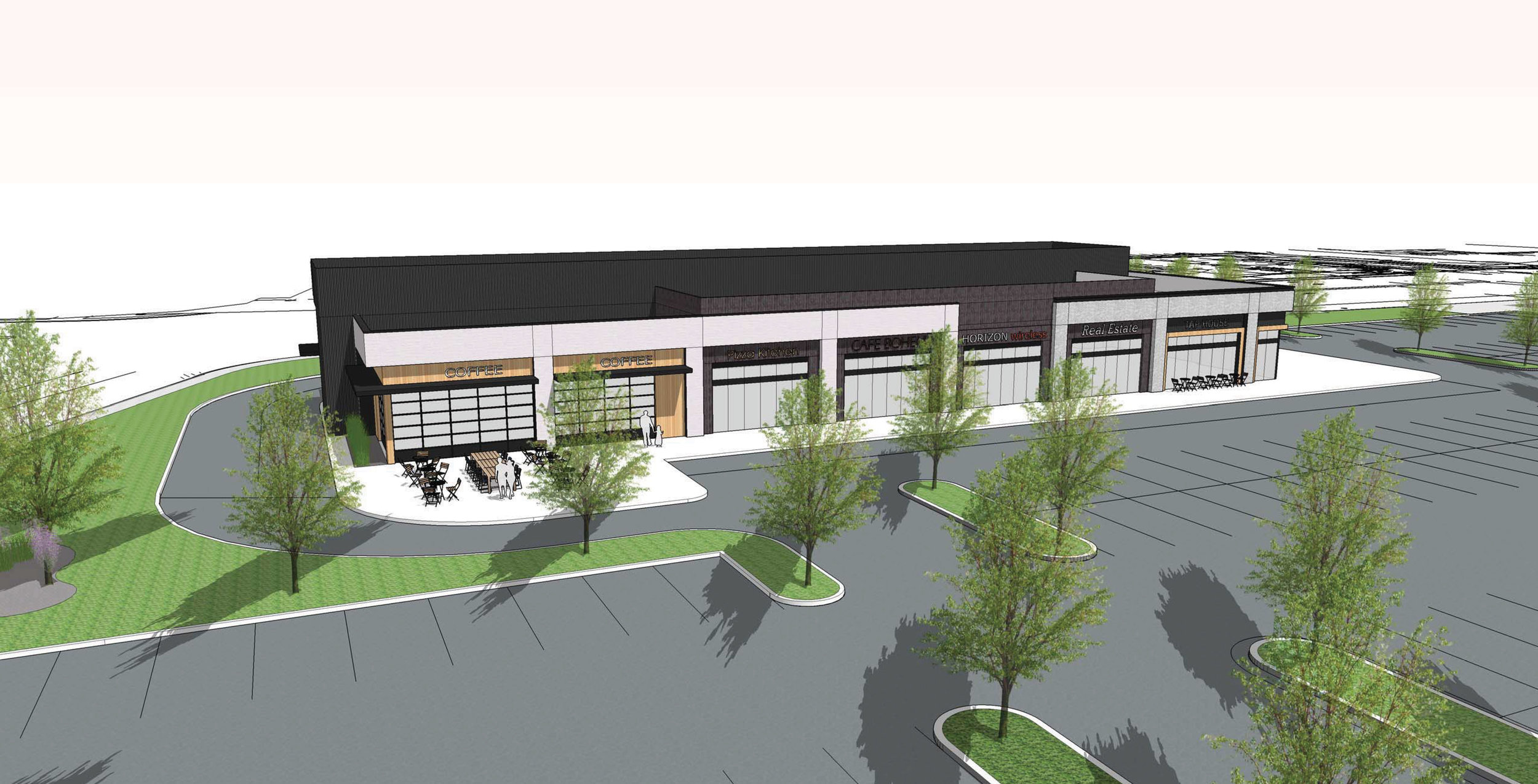 11,000 sq. ft. of retail at Staples Mill and Bethlehem Roads.