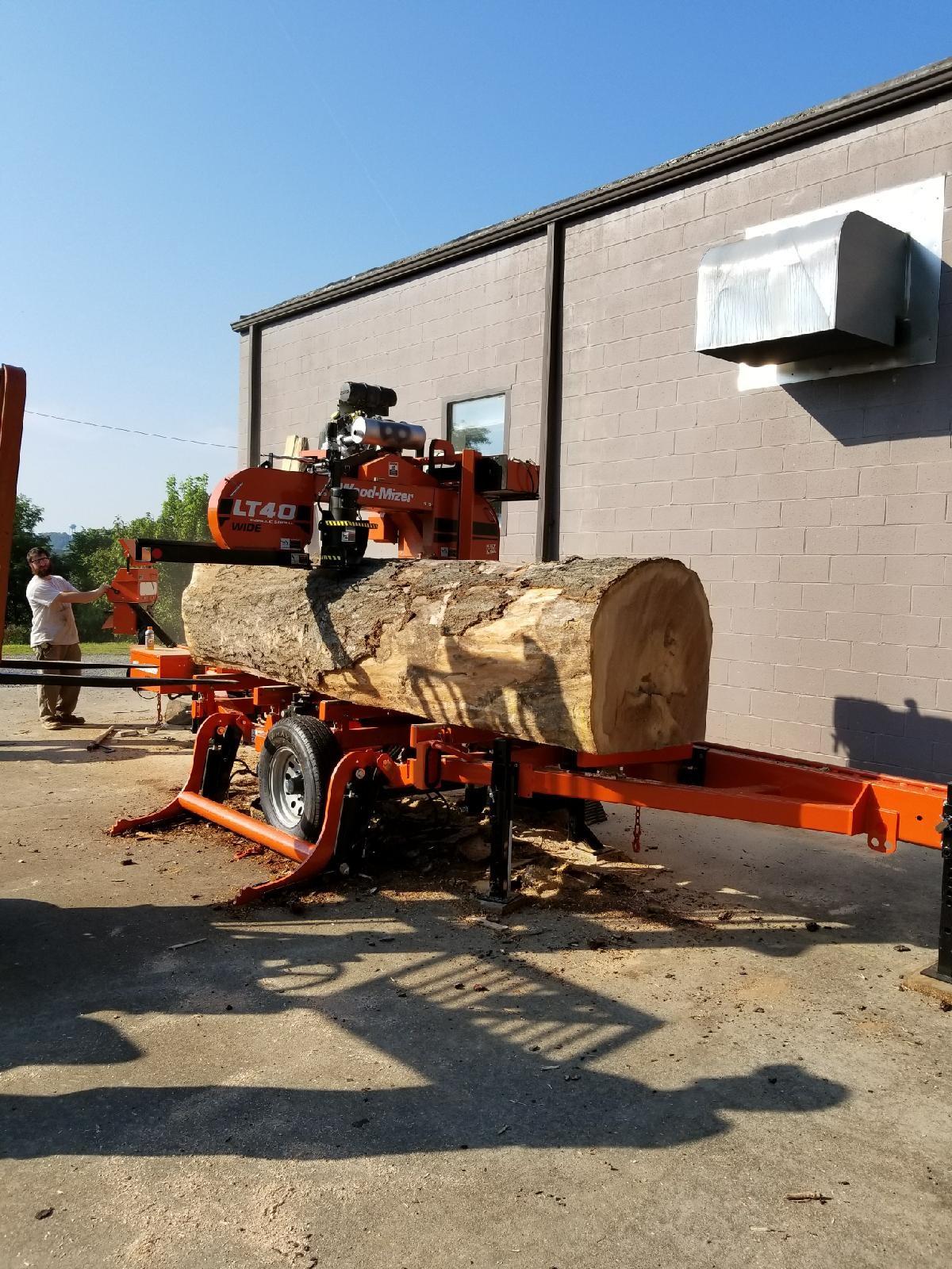 Sawing of a nice Oak Log