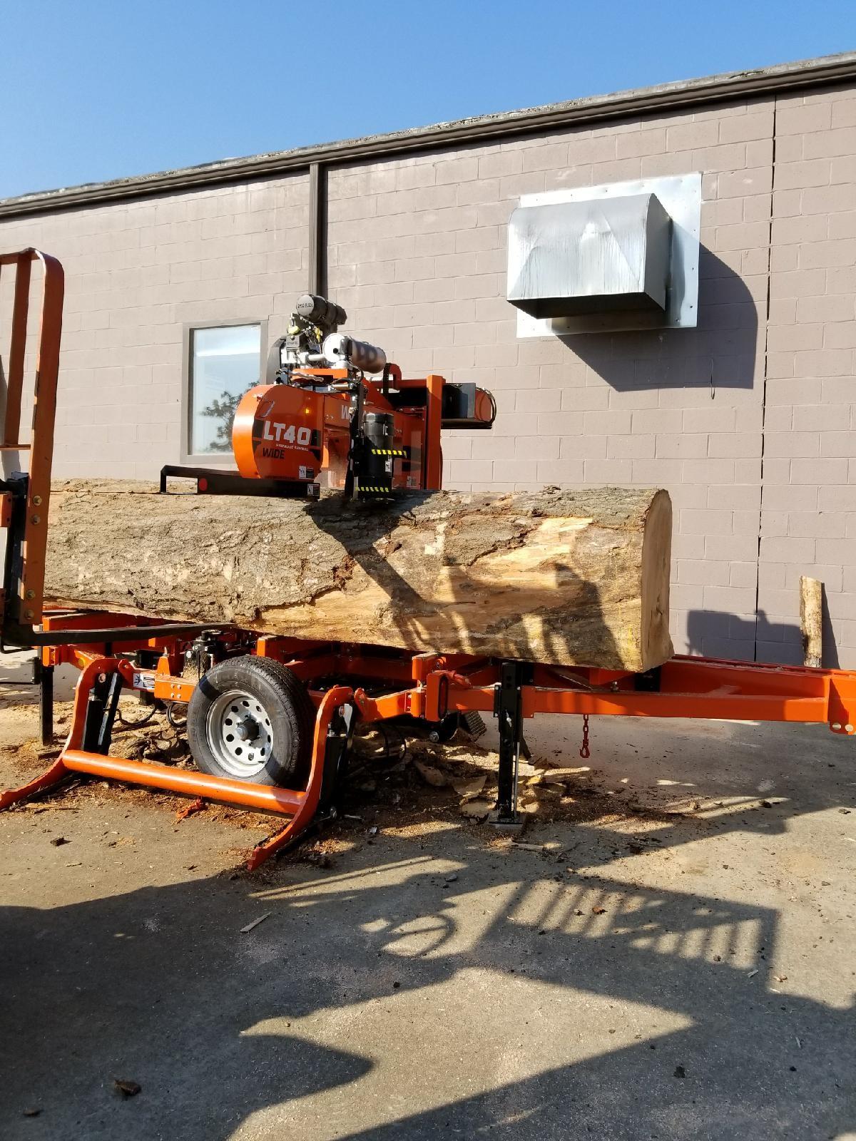Sawing of the same Oak Log