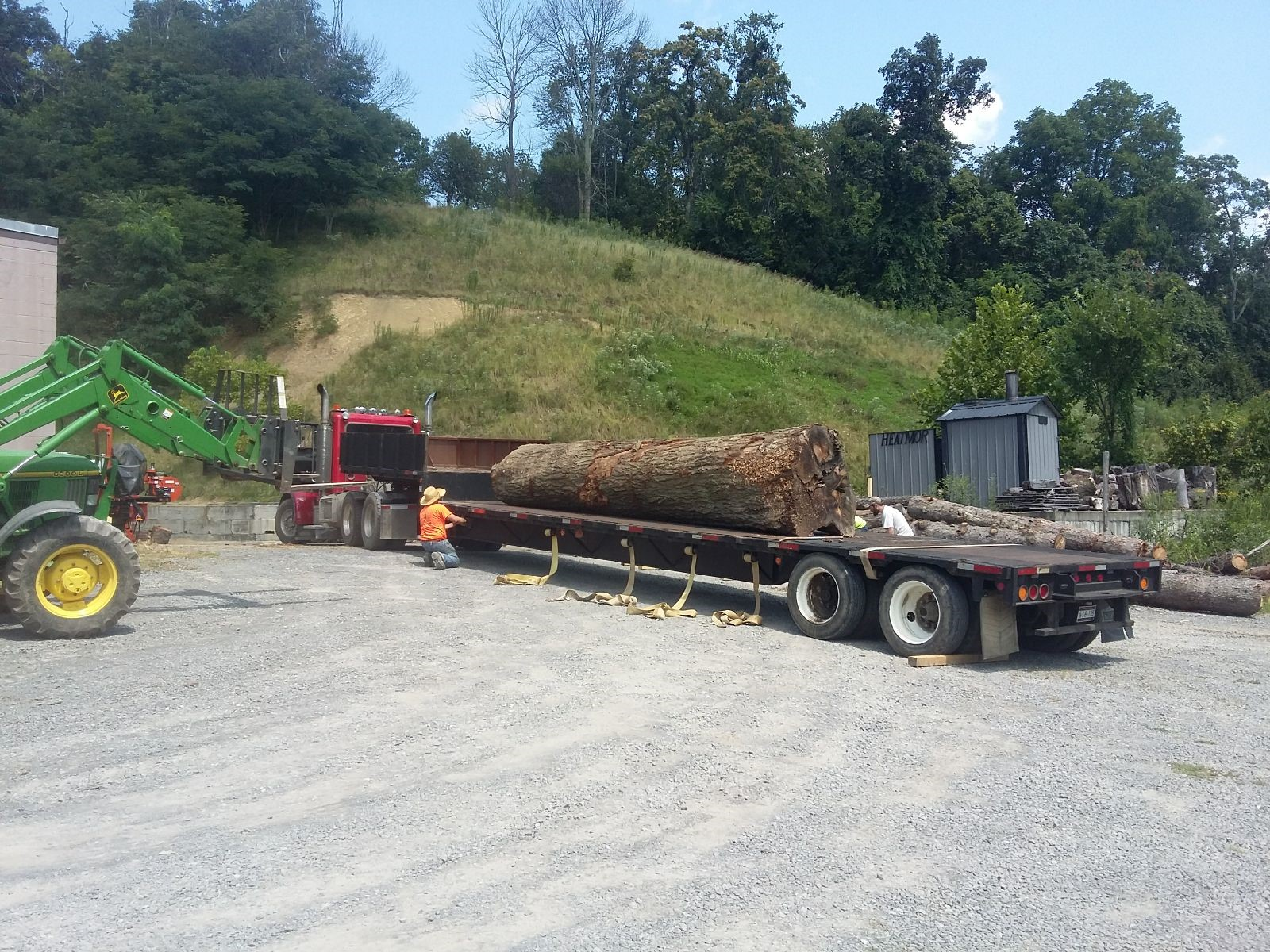 This Oak Log was brought to us and sawed