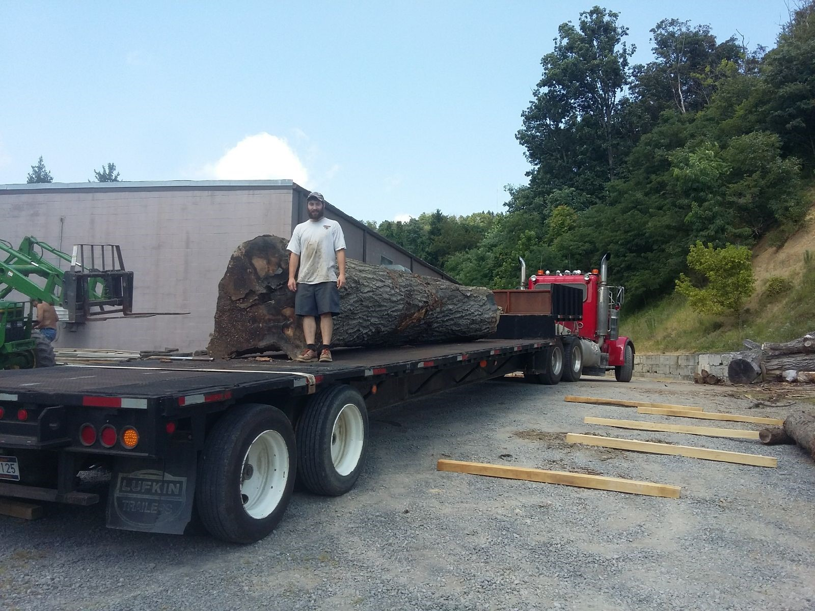 """The log was about 49"""" to 50"""" in diameter and 23' long"""