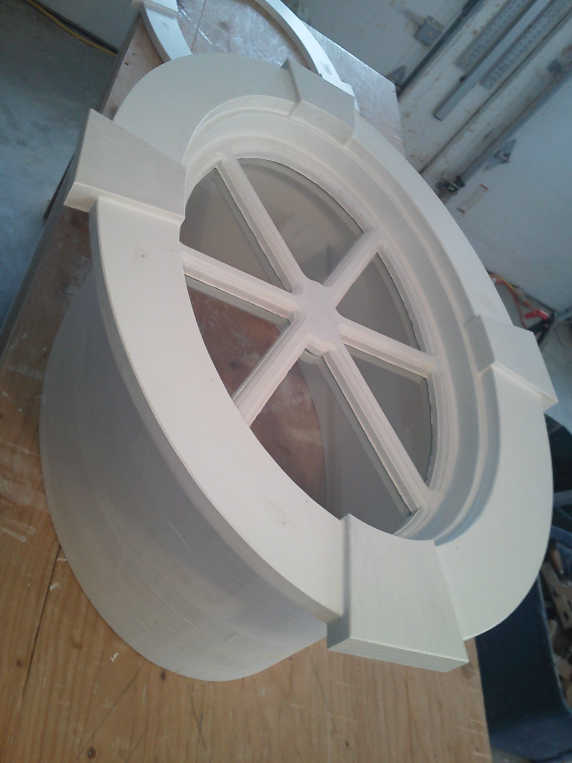 Finished Elliptical Window with Deep Jamb