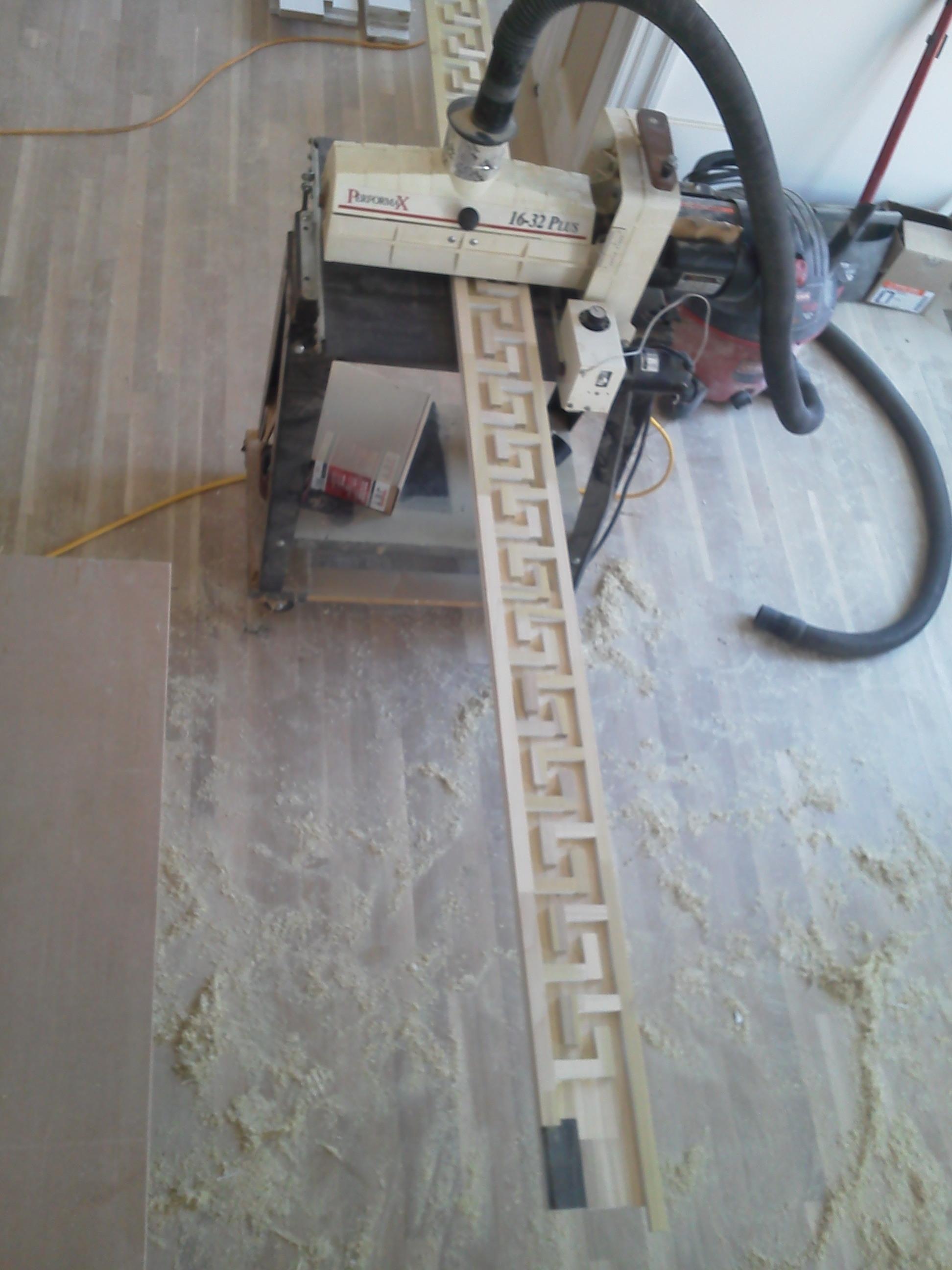 Surface Sanding for Greek Key Trim